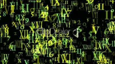 abstract computer business number and alphabet matrix,finance market display.
