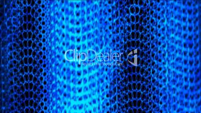 shine blue circle chain curtain shaped wave background,metal round net.