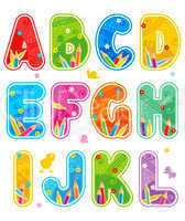 Spring or summer abc set letters A - L