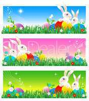 Easter card, banners or poster background