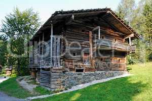 Old farmer's wooden house in open air museum, Salzburg, Austria