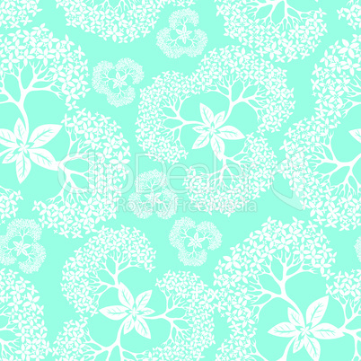 Flower pattern seamless background with hydrangea