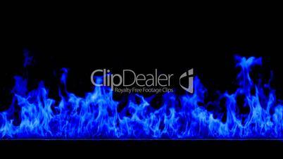 Fire blue HD 1080, Loopable, Alpha