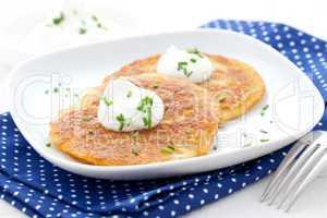frische Puffer / fresh potato pancakes