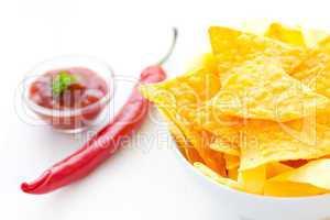 Nachos mit Salsa / nachos with salsa