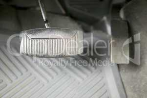 Gas and brake pedal, automobile, concept photography