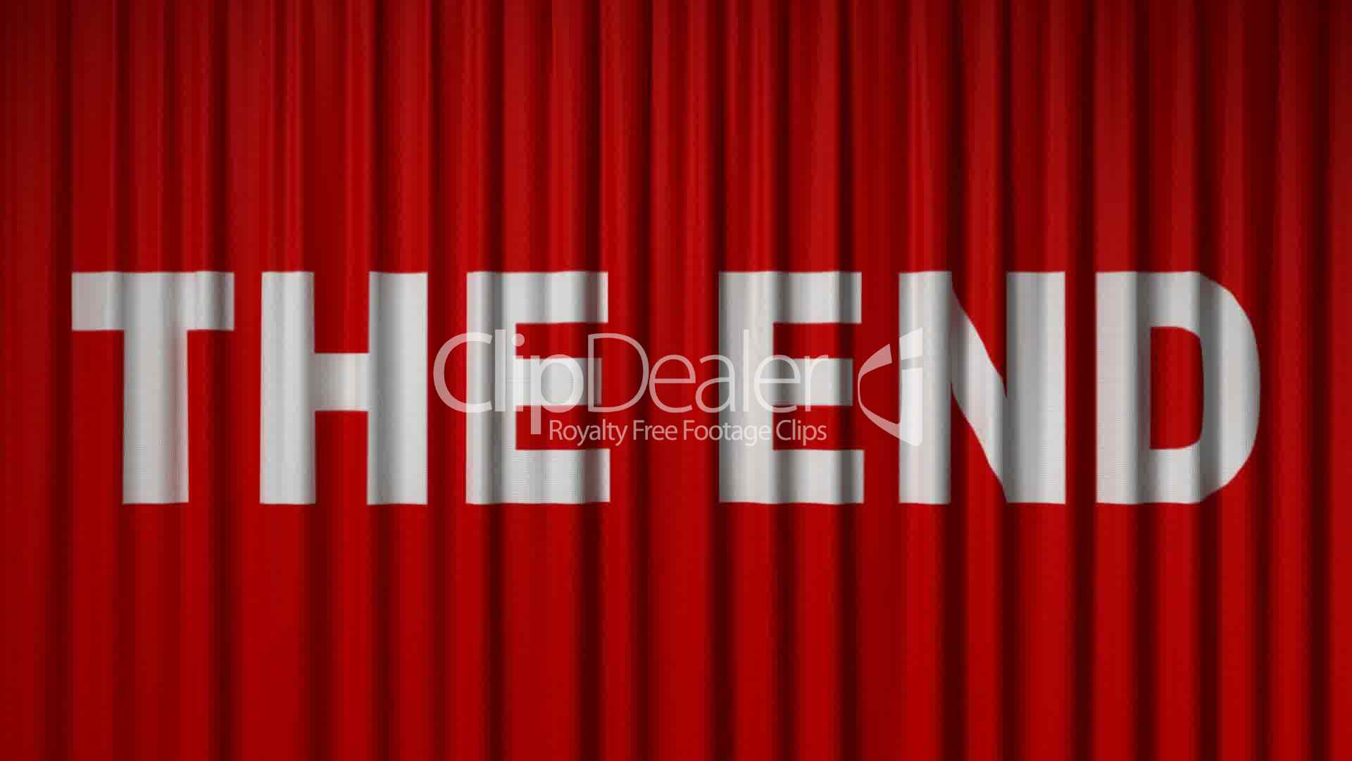 Closing Red Curtain With Title Quot The End Quot Royalty Free