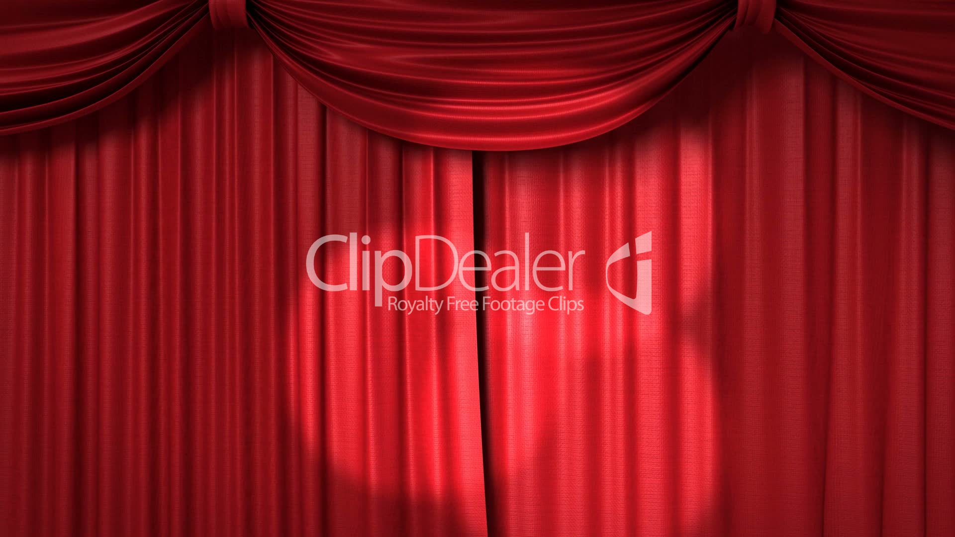Opening and closing red curtain stock animation royalty free stock - Opening And Closing Red Curtain With Spotlights Royalty