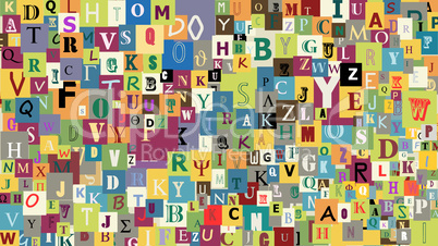 Abstract letters background.eps