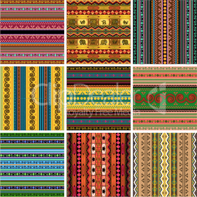 Decorative traditional pattern set