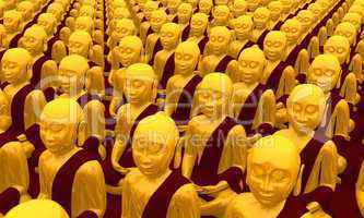 Buddha Konferenz - Gold Rot 01