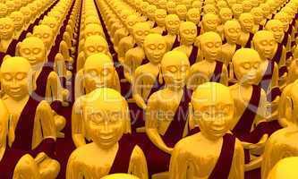 Buddha Konferenz - Gold Rot 03