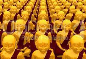 Buddha Konferenz - Gold Rot 02
