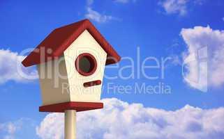 Vogelhaus im Sommer - Rot Beige