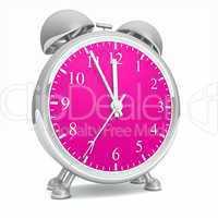 Wecker silber pink 01 - Fünf vor Zwölf