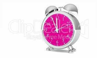 Wecker silber pink 02 - Fünf vor Zwölf