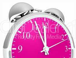 Wecker silber pink 03 - Fünf vor Zwölf