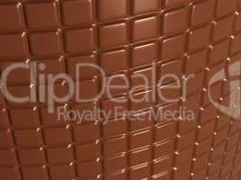 Confectionery and sweet food: chocolate bar