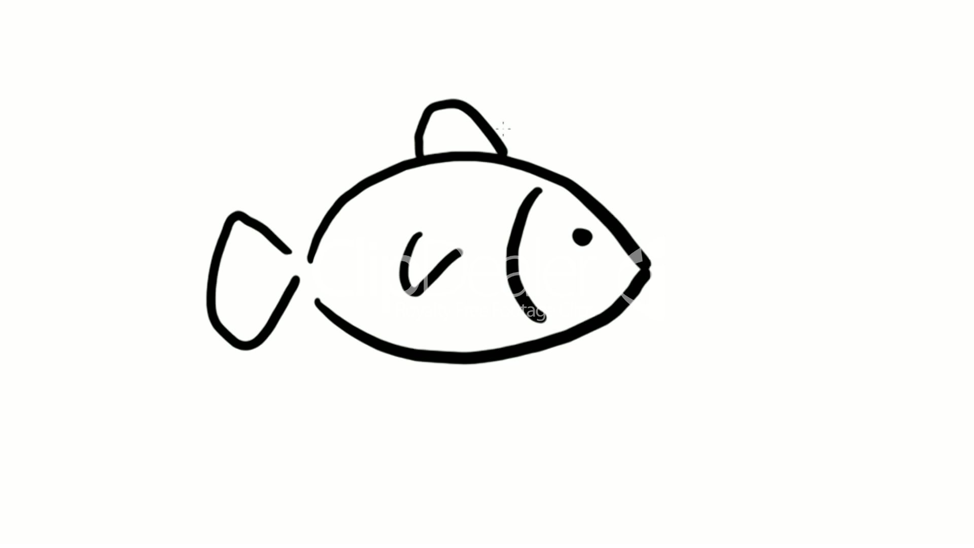 Clips drawing of fish