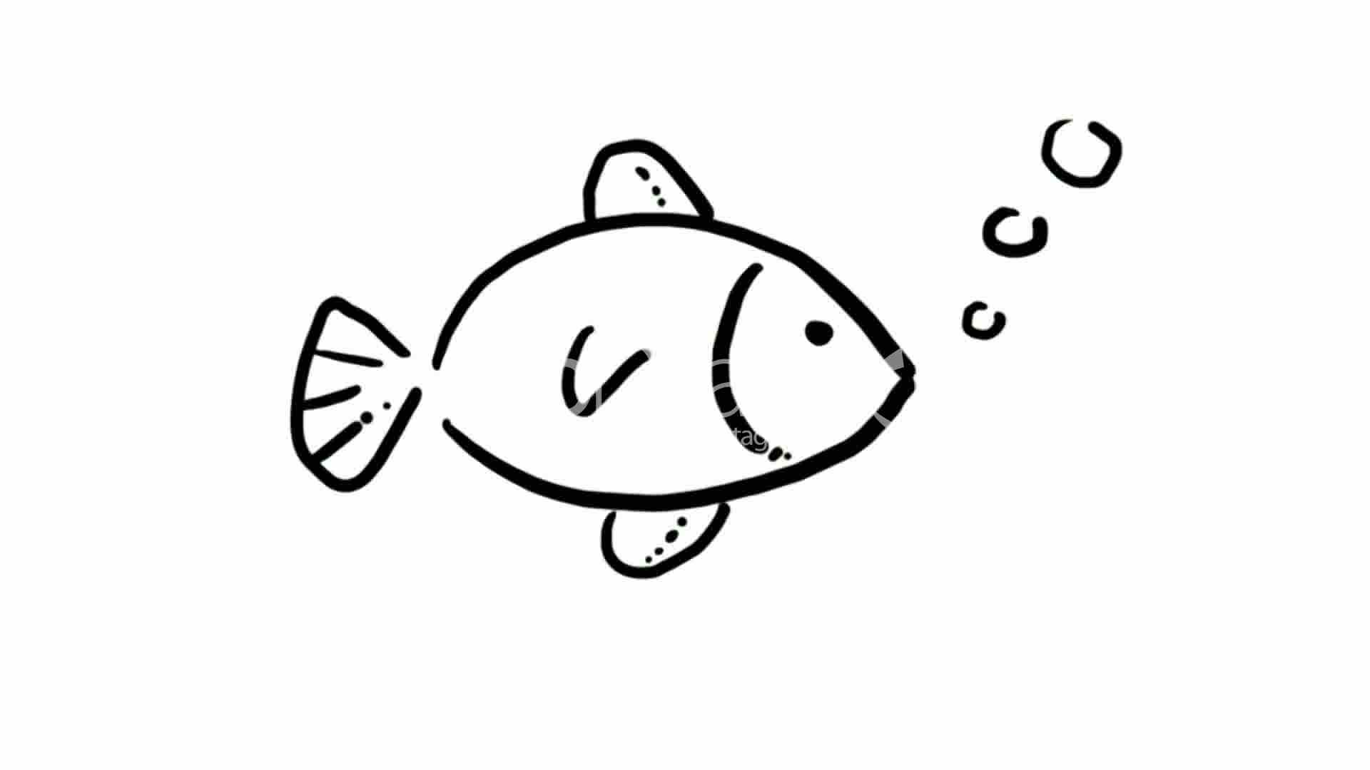 drawing of fish swimminghand painting video materialsketchchildrenchildhoodkindergartennaivecutesketchesstick figurechildren paintingsearly - Drawing Pictures For Kindergarten