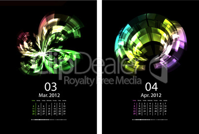 A Series Of Calendars Magic Light.