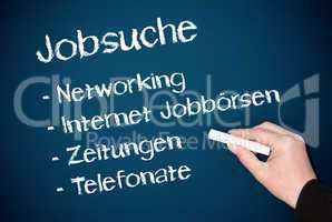 Jobsuche - Konzept Kreide Tafel