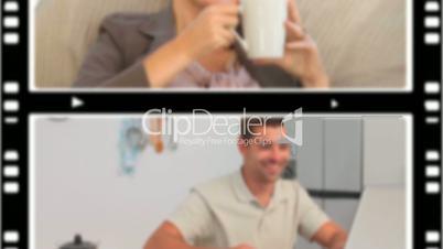 Menschen genießen eine Tasse Kaffee