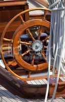 Details einer Schiffstakelage im Kieler Hafen,Segelyacht im Kiel