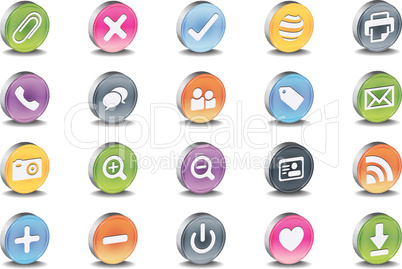 3d vector useful icon set