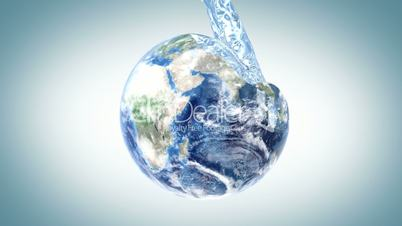 water fills the Earth
