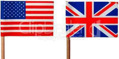 UK and USA flag