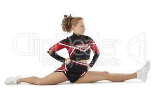 Cheerleader macht Spagat