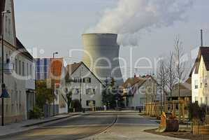 Ort und Kernkraftwerk Gundremmingen