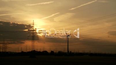 Zeitraffer, Stommaste, Sonnenuntergang
