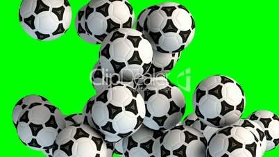 Soccer balls transition effect