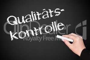 Qualitätskontrolle - Kreide Tafel