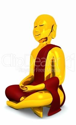 Der glückliche Buddha - Gold Rot 03