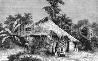 Native Hut at Bombay
