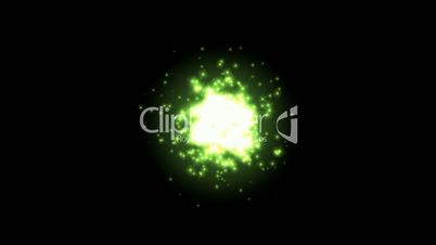 Universe explosion and fragment,green circle and Particles.Design,pattern,symbol,dream,vision,idea,creativity,vj,beautiful,art,decorative.