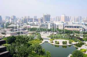 Downtown view of Xian, China
