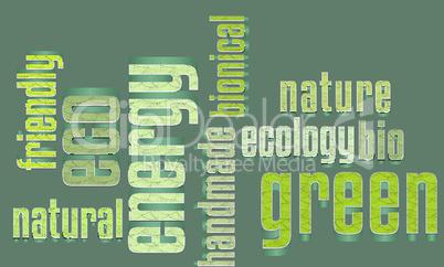 Eco Vector Green Word Cloud