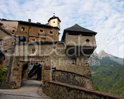 Gate of Hohenwerfen medieval castle in Austria