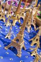 Miniature Eiffel Tower Souvenirs Selling in Market, Paris, Franc