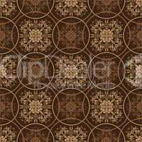 Retro brown floral pattern