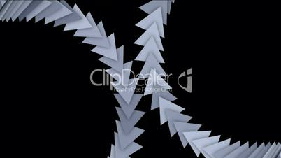 moving arrow and triangle cards array,business computer background.