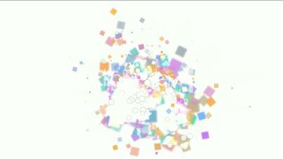 explosion debris and paper card scrap.
