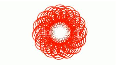 red flower fancy coil and rotation magnetic wire,swirl fiber optic,tech web lines,tunnel hole.
