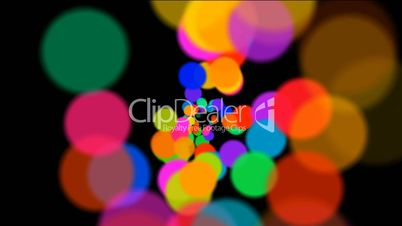 abstract colorful circles loop at night,bubble and blister array background,dancing dots and particles.