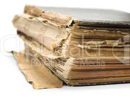 old book, isolated on white background
