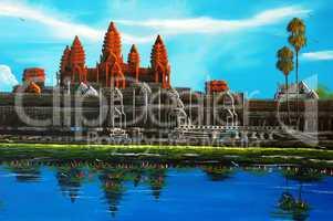 Angkor Thom at Siem Reap, Cambodia